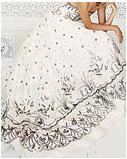 Вышивка бисером на свадебном платье схемы